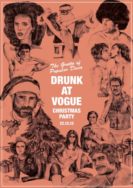 Drunk at Vogue Christmas Party at Kraak Manchester