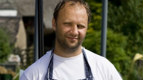 simon rogan at the French restaurant at Manchester Midland Hotel