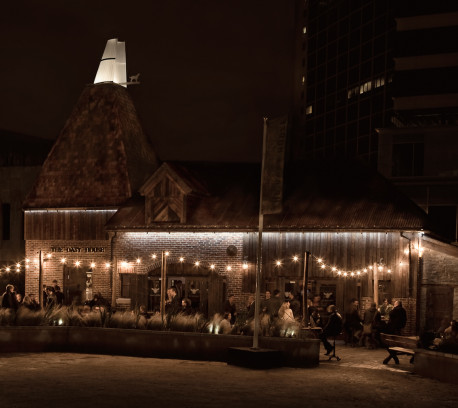 Oast House at night
