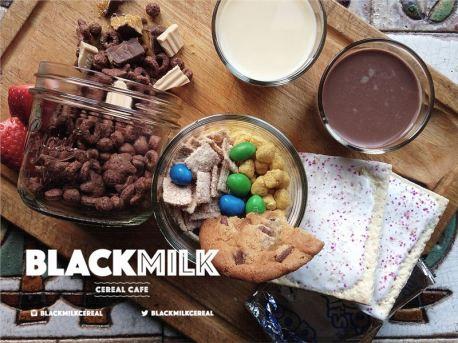 black milk cereal bar