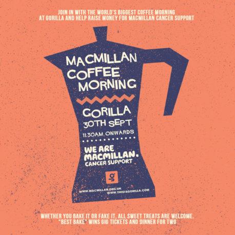 Macmillan Coffee Morning Gorilla