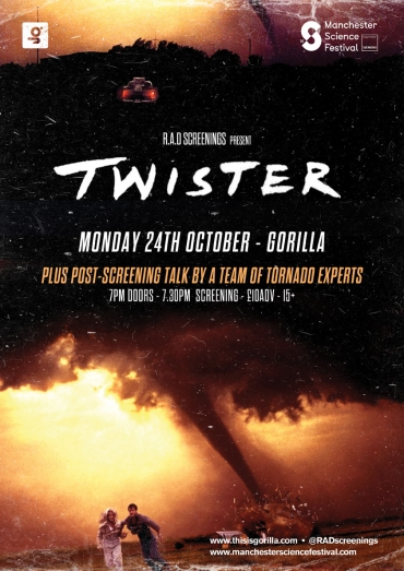 Twister film Manchester Science Festival