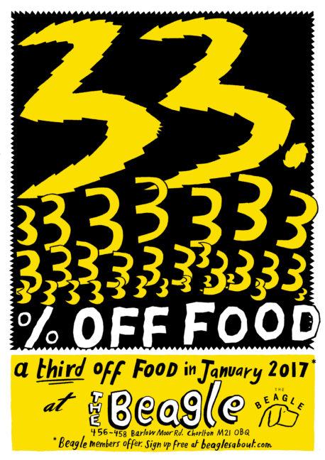 The Beagle Chorlton January food offer 2017