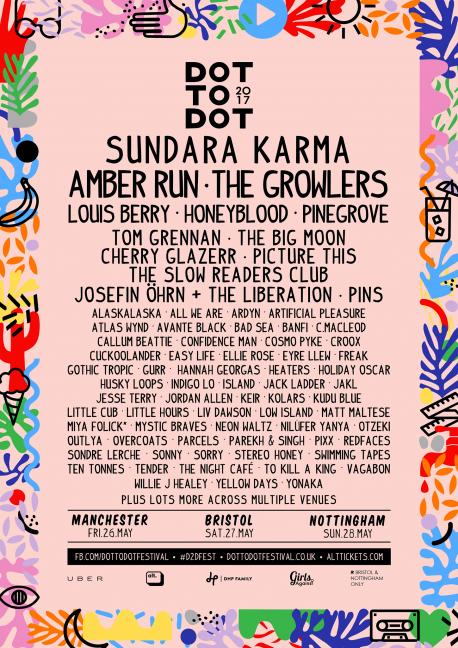 Dot to Dot final lineup 2017 Manchester