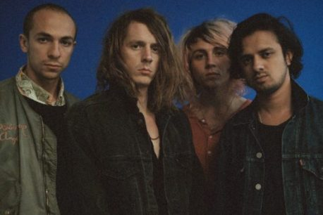 Mystery Jets band on the wall