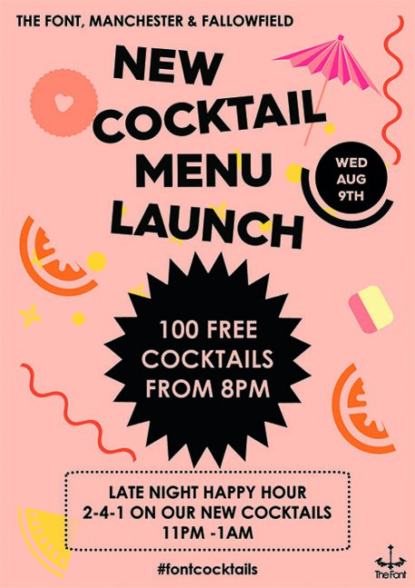 cocktail launch poster 2017