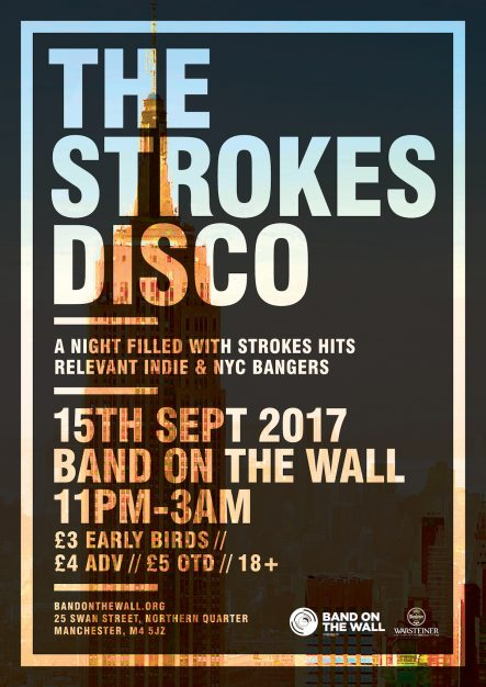 Strokes Disco band on the wall