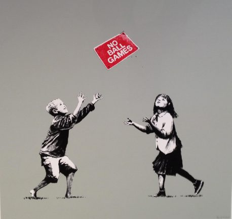 Banksy No Ball Games Papa's Print Shop