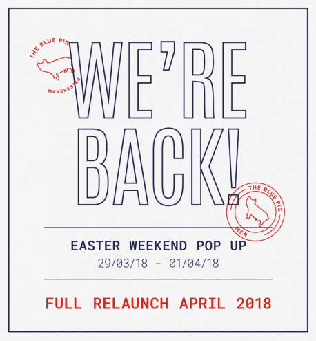 the blue pig easter pop up