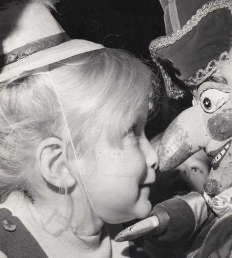 Child with Mr Punch