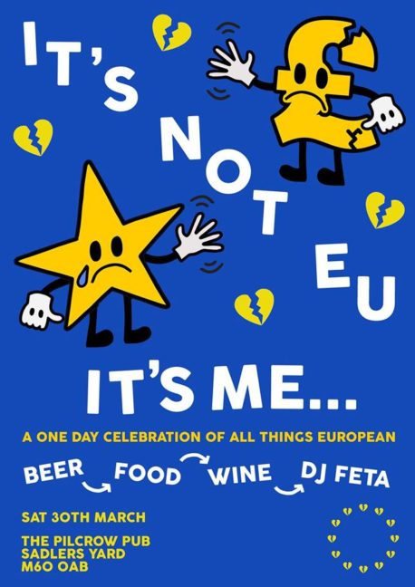 Free things to do in Manchester - Its not me Its EU