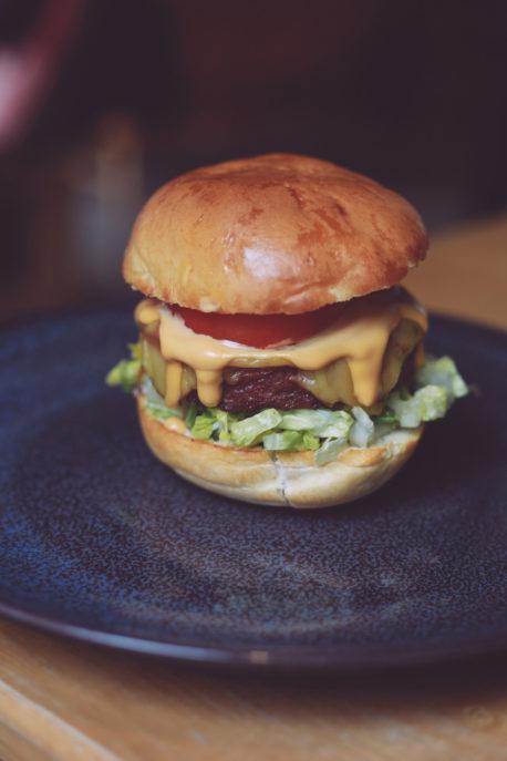 Vegan burger at Common bar