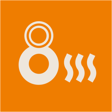 8s Pizza — IG icon, coloured