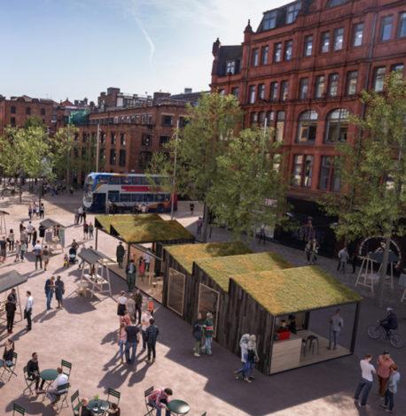 Visualisation of Stevenson Square (TfGM)